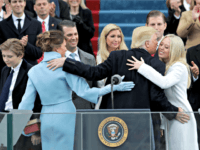 WASHINGTON, DC - JANUARY 20: President Donald Trump kisses his daughter Tiffany Trump after his inauguration on the West Front of the U.S. Capitol on January 20, 2017 in Washington, DC. In today's inauguration ceremony Donald J. Trump becomes the 45th president of the United States. (Photo by Alex Wong/Getty …