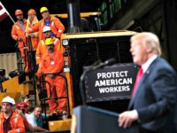 President Trump speaks at U.S. Steel's Granite City Works steel mill in Illinois on July 26, 2018. Photo: Saul Loeb/AFP/Getty Images