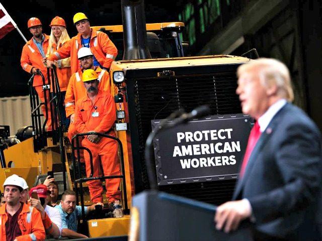 President Trump speaks at U.S. Steel's Granite City Works steel mill in Illinois on July 26, 2018. Photo: Saul Loeb/AFP/Getty Images