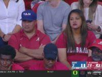 Galu and Diane Tagovailoa at Alabama-Duke game, 8/31/2019