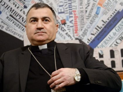 Chaldean Archbishop of Erbil (Iraqi Kurdistan), Mgr. Bashar Warda gives a press conference on January 30, 2017 in Rome. Msgr. Warda is the most authoritative witness of the entire Christian community of northern Iraq. It has taken charge of the 125,000 Christians moving apart from the Plain of Nineveh and …