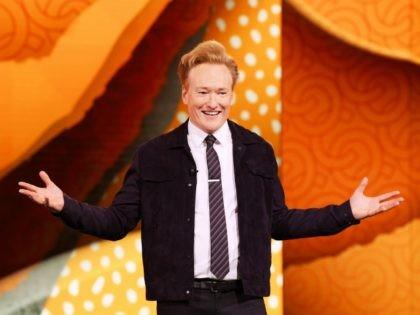 NEW YORK, NEW YORK - MAY 15: Conan O'Brien of TBS's CONAN speaks onstage during the WarnerMedia Upfront 2019 show at The Theater at Madison Square Garden on May 15, 2019 in New York City. 602140 (Photo by Dimitrios Kambouris/Getty Images for Turner)