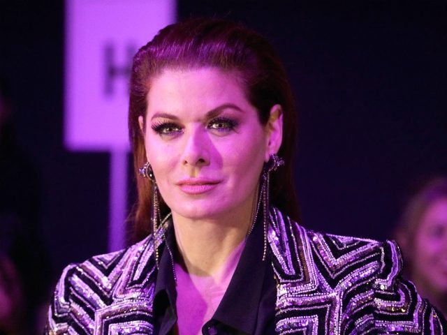 NEW YORK, NY - FEBRUARY 12: Debra Messing attends the Naeem Khan runway show in Gallery I of Spring Studios during New York Fashion Week: The Shows at Spring Studios on February 12, 2019 in New York City. (Photo by Manny Carabel/Getty Images)