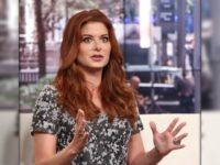 "NEW YORK, NY - OCTOBER 14: Debra Messing visits ""FOX & Friends"" at FOX Studios on October 14, 2014 in New York City. (Photo by Rob Kim/Getty Images)"