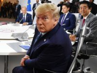 BIARRITZ, FRANCE - AUGUST 25: US President Donald Trump attends the first working session of the G7 Summit on August 25, 2019 in Biarritz, France. The French southwestern seaside resort of Biarritz is hosting the 45th G7 summit from August 24 to 26. High on the agenda will be the …