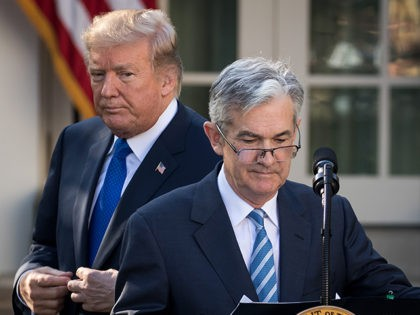 WASHINGTON, DC - NOVEMBER 02: (L to R) U.S. President Donald Trump looks on as his nominee for the chairman of the Federal Reserve Jerome Powell takes to the podium during a press event in the Rose Garden at the White House, November 2, 2017 in Washington, DC. Current Federal …