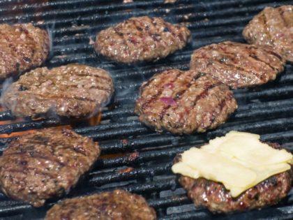 hamburgers on a grill