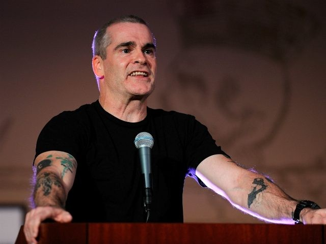 """LOS ANGELES, CA - OCTOBER 28: Musician Henry Rollins, guest reader attends The Library Foundation's Young Literati 4th Annual """"Toast: An Evening To Benefit The Los Angeles Public Library"""" at the Los Angeles Public Library on October 28, 2011 in Los Angeles, California. (Photo by Frazer Harrison/Getty Images)"""