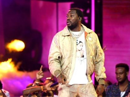 LOS ANGELES, CALIFORNIA - JUNE 23: Meek Mill performs onstage at the 2019 BET Awards on June 23, 2019 in Los Angeles, California. (Photo by Kevin Winter/Getty Images)