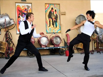 Brad Pitt and Mike Moh in Once Upon a Time ... in Hollywood (2019) Titles: Once Upon a Time ... in Hollywood People: Brad Pitt, Mike Moh Photo by ANDREW COOPER