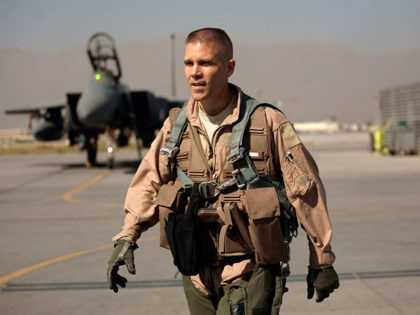 In this picture taken Saturday, Oct. 17, 2009, U.S. Air Force Brig. Gen. Steven Kwast, commander of the 455th Air Expeditionary Wing, walks on the flight line before piloting an F-15E Strike Eagle at Bagram Air Field in Afghanistan. Kwast is the top U.S. Air Force officer at this sprawling …