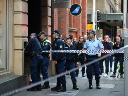 Police investigate the area where a man went on a stabbing rampage in Sydney