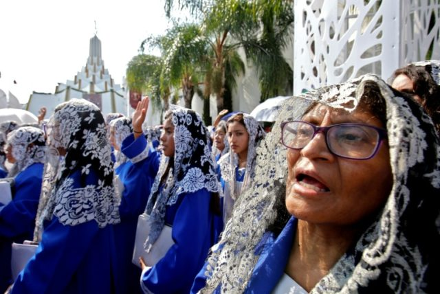 Mexico church holds mass baptism despite leader's sex crimes scandal