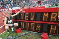 Warholm races to break hurdles world record