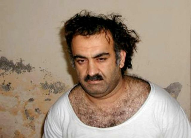 Alleged September 11, 2001, attacks organizer Khalid Sheikh Mohammed, shortly after his capture in 2003