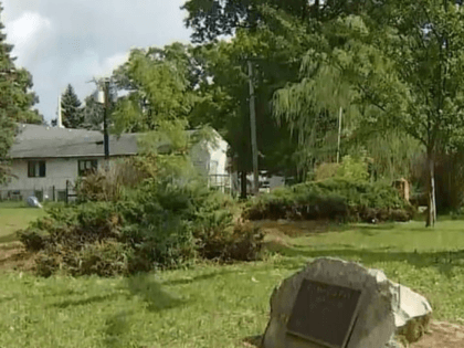 Leigh Gardella-Wood says she got a letter from officials in the Illinois town of Winthrop Harbor last week telling her to removed a 9/11 memorial boulder on her property