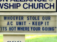 Ohio Church Sign Tells AC Unit Thieves: 'It's Hot Where You're Going'