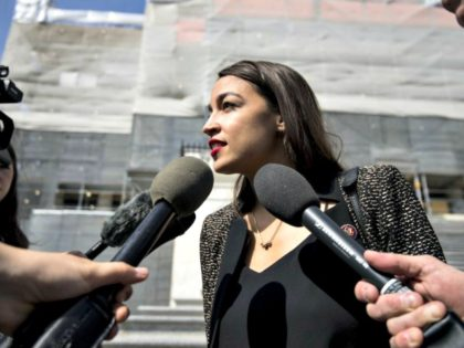 "Rep. Alexandria Ocasio-Cortez just released a multi-part legislative blueprint to build a more equitable and sustainable nation, what's she's calling ""A Just Society."" CQ-Roll Call, Inc via Getty Images"