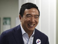 Democratic presidential hopeful and former technology executive Andrew Yang smiles during a campaign stop at the Black Chamber of Commerce on Thursday, Aug. 15, 2019, in Beaufort, S.C. (AP Photo/Meg Kinnard)