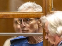 Edward Buck listens to his defense attorney Seymour Amster, right, during an appearance in Los Angeles Superior Court, Thursday, Sept. 19, 2019, in Los Angeles. The prominent LGBTQ political activist was arrested Tuesday and charged with operating a drug house and providing methamphetamine to a 37-year-old man who overdosed on …
