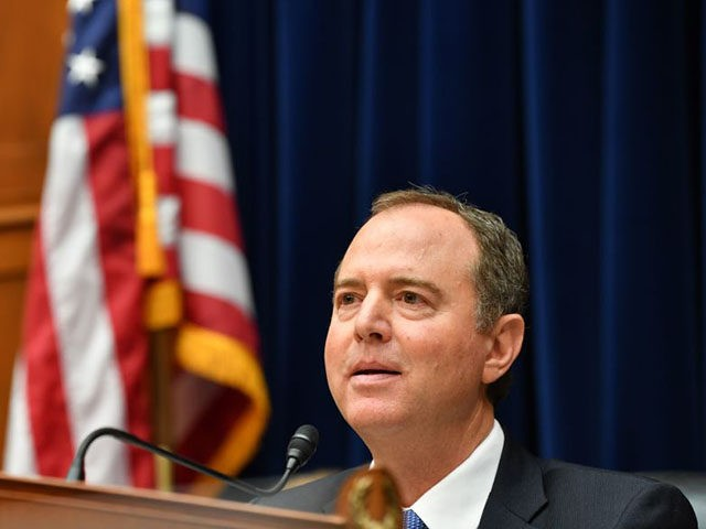 Committe Chairman Adam Schiff, Democrat of California, listens to testimony from Acting Director of National Intelligence Joseph Maguire at the House Permanent Select Committee on Intelligence on September 26, 2019, in Washington, DC. - Maguire is testifying on the whistleblower complaint, regarding communication between US President Donald Trump and Ukrainian …