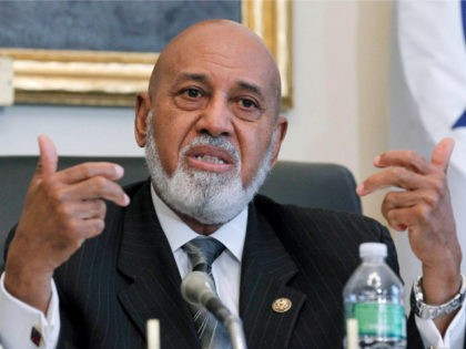 FILE - In this May 19, 2010 file photo, Rep. Alcee Hastings, D-Fla., speaks on Capitol Hill in Washington. Florida Congressman Alcee Hastings says he has pancreatic cancer but plans to remain in office as he fights the disease. The 82-year-old Democrat said in a statement Monday, Jan. 14, 2019, …