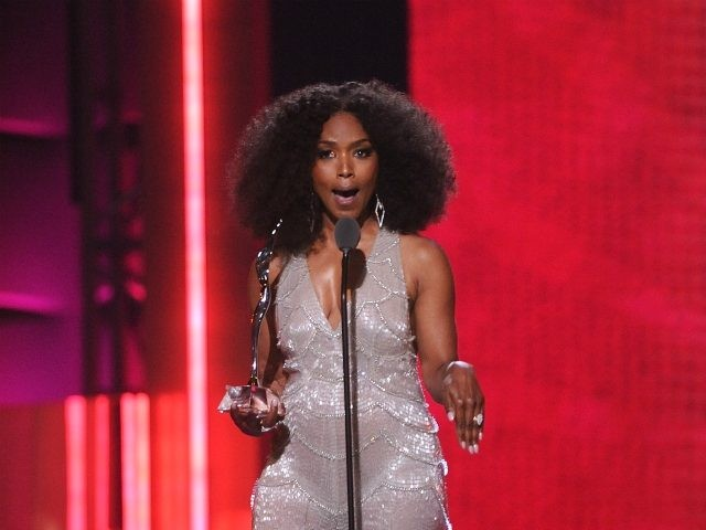 Angela Bassett speaks at the 2019 Black Girls Rock! Awards at the New Jersey Performing Arts Center on Sunday, Aug. 25, 2019, in Newark, N.J. (Photo by Brad Barket/Invision/AP)