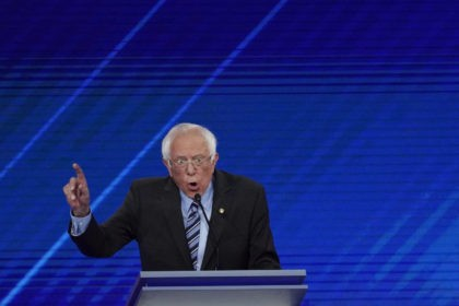Democratic presidential candidate Sen. Bernie Sanders, I-Vt., answers a question Thursday, Sept. 12, 2019, during a Democratic presidential primary debate hosted by ABC at Texas Southern University in Houston. (AP Photo/David J. Phillip)