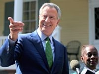 NEW YORK, NY - SEPTEMBER 20: New York City Mayor Bill de Blasio speaks during a press conference held in front of Gracie Mansion on September 20, 2019 in New York City. De Blasio, standing alongside his wife Chirlane McCray, announced his decision to drop out of the 2020 U.S. …