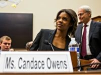 WASHINGTON, DC - APRIL 09: Candace Owens of Turning Point USA arrives before testifying during a House Judiciary Committee hearing discussing hate crimes and the rise of white nationalism on Capitol Hill on April 9, 2019 in Washington, DC. Internet companies have come under fire recently for allowing hate groups …