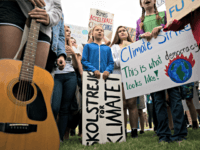 WASHINGTON, DC - SEPTEMBER 13: Teenage Swedish climate activist Greta Thunberg joins student environmental advocates during a strike to demand action be taken on climate change outside the White House on September 13, 2019 in Washington, DC. The strike is part of Thunberg's six day visit to Washington ahead of …