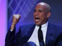 Democratic presidential candidate Sen. Cory Booker (D-NJ) speaks during a U.S. Presidential Candidates Forum at the 2019 NABJ Annual Convention & Career Fair held at the J.W. Marriott Miami Turnberry Resort & Spa on August 08, 2019 in Miami, Florida. The presidential candidates answered questions and spoke before the National …