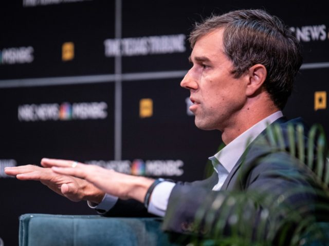 AUSTIN, TX - SEPTEMBER 28: Democratic presidential candidate, former Rep. (D-TX) Beto O'Rourke speaks during a panel at The Texas Tribune Festival on September 28, 2019 in Austin, Texas. The festival held panels with several democratic presidential candidates and some prominent Texas republicans. (Photo by Sergio Flores/Getty Images)