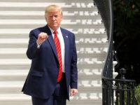 WASHINGTON, DC - SEPTEMBER 26: U.S. President Donald Trump gestures as he returns to the White House after attending the United Nations General Assembly on September 26, 2019 in Washington, DC. Earlier today the Acting Director of National Intelligence Joseph Maguire testified before the House Intelligence Committee about a whistleblower …