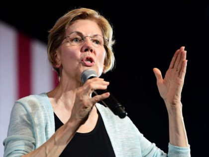 2020 Democratic Presidential hopeful Senator Elizabeth Warren hosts a town hall at the Shrine Auditorium in Los Angeles, California on August 21, 2019. (Photo by Frederic J. BROWN / AFP) (Photo credit should read FREDERIC J. BROWN/AFP/Getty Images)