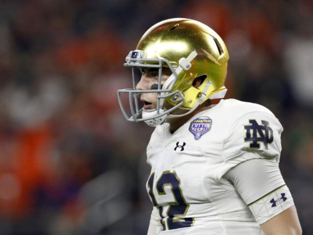 Notre Dame QB Breaks Cheerleader's Nose With Errant Pass | 95.3 WDAE