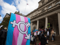 L.G.B.T. activists and their supporters rally in support of transgender people on the steps of New York City Hall, October 24, 2018 in New York City. The group gathered to speak out against the Trump administration's stance toward transgender people. Last week, The New York Times reported on an unreleased …