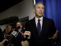 WEST LAFAYETTE, IN - FEBRUARY 07: Former Starbucks CEO Howard Schultz talks to reporters at a news conference after speaking at Purdue University's Fowler Hall on February 7, 2019 in West Lafayette, Indiana. Schultz is considering running as an independent presidential candidate for the 2020 election. (Photo by Joshua Lott/Getty …