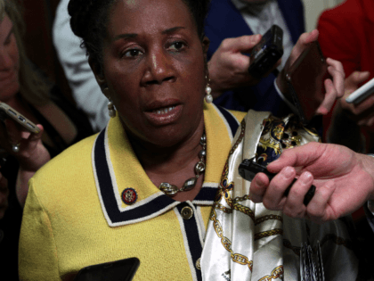 U.S. Rep. Sheila Jackson Lee speaks to members of the media outside the room where former White House communications director Hope Hicks testified at a closed-door interview with the House Judiciary Committee June 19, 2019 on Capitol Hill in Washington, DC. Hicks is the first former Trump aide to testify …