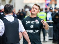 LONDON , UNITED KINGDOM - JULY 11: British far-right activist and former leader and founder of English Defence League (EDL), Tommy Robinson, whose real name is Stephen Yaxley-Lennon, arrives at the Old Bailey on July 11, 2019 in London, England. Tommy Robinson will be sentenced this morning after he was …