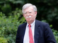"US National Security Advisor John Bolton arrives in Downing Street in London on August 13, 2019, ahead of his meeting with Britain's Chancellor of the Exchequer Sajid Javid. - US National Security Advisor John Bolton said Monday that Washington wanted ""to move very quickly"" on a trade deal with Britain …"
