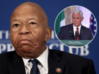 (INSET: Vice President Mike Pence in Ireland) WASHINGTON, DC - AUGUST 07: House Oversight ant Reform Chairman Rep. Elijah Cummings speaks at the National Press Club August 7, 2019 in Washington, DC. Cummings addressed members of the organization during a luncheon and touched on a number of issues including ongoing …