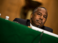 U.S. Housing and Urban Development Secretary Ben Carson testifies during a Senate Banking, Housing, and Urban Affairs Committee hearing on September 10, 2019 in Washington, DC. Trump administration officials were testifying before the committee in support of a report released last week calling for the privatization of Fannie Mae and …