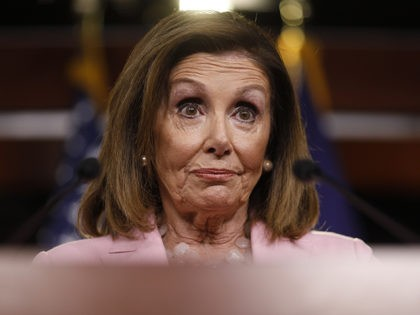 "WASHINGTON, DC - SEPTEMBER 12: U.S. House Speaker Nancy Pelosi (D-CA) delivers remarks duringher weekly news conference on Capitol Hill September 12, 2019 in Washington, DC. While saying she's ""pleased"" with progress on a House Judiciary Committee probe of President Donald Trump, she declined to call the investigation an impeachment …"