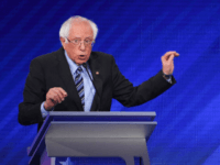 Democratic presidential hopeful Vermont Senator Bernie Sanders speaks during the third Democratic primary debate of the 2020 presidential campaign season hosted by ABC News in partnership with Univision at Texas Southern University in Houston, Texas on September 12, 2019. (Photo by Robyn BECK / AFP) / ALTERNATIVE CROP (Photo credit …