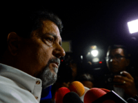 Venezuelan opposition figure Edgar Zambrano speaks with the press after being released from jail, on September 17, 2019 in Caracas. - Zambrano, the vice president of the National Assembly, was arrested by President Nicolas Maduro's intelligence service in May 2019 for supporting a failed April 30 uprising organized by opposition …