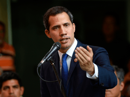 Venezuelan opposition leader and self-proclaimed acting president Juan Guaido speaks during a press conference at the Chacao Theater in Caracas on September 19, 2019. - Venezuela's socialist government on Wednesday called on the United States to restore diplomatic ties with Caracas after it opened talks with fringe opposition parties. The …