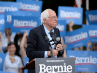 Democratic presidential candidate Sen. Bernie Sanders (I-VT) addresses an audience on the campus of the University of Chapel Hill during a campaign rally on September 19, 2019 in Chapel Hill, North Carolina. Sanders spoke to college students on the working peoples rights, among fair wage and health care. (Photo by …