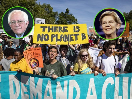 WASHINGTON, DC - SEPTEMBER 20: Activists gather in John Marshall Park for the Global Climate Strike protests on September 20, 2019 in Washington, United States. In what could be the largest climate protest in history and inspired by the teenage Swedish activist Greta Thunberg, people around the world are taking …