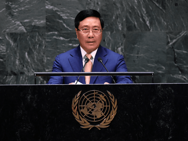 Vietnam's Foreign Minister Binh Minh speaks during the 74th Session of the General Assembly at UN Headquarters in New York on September 28, 2019. (Photo by Johannes EISELE / AFP) (Photo credit should read JOHANNES EISELE/AFP/Getty Images)